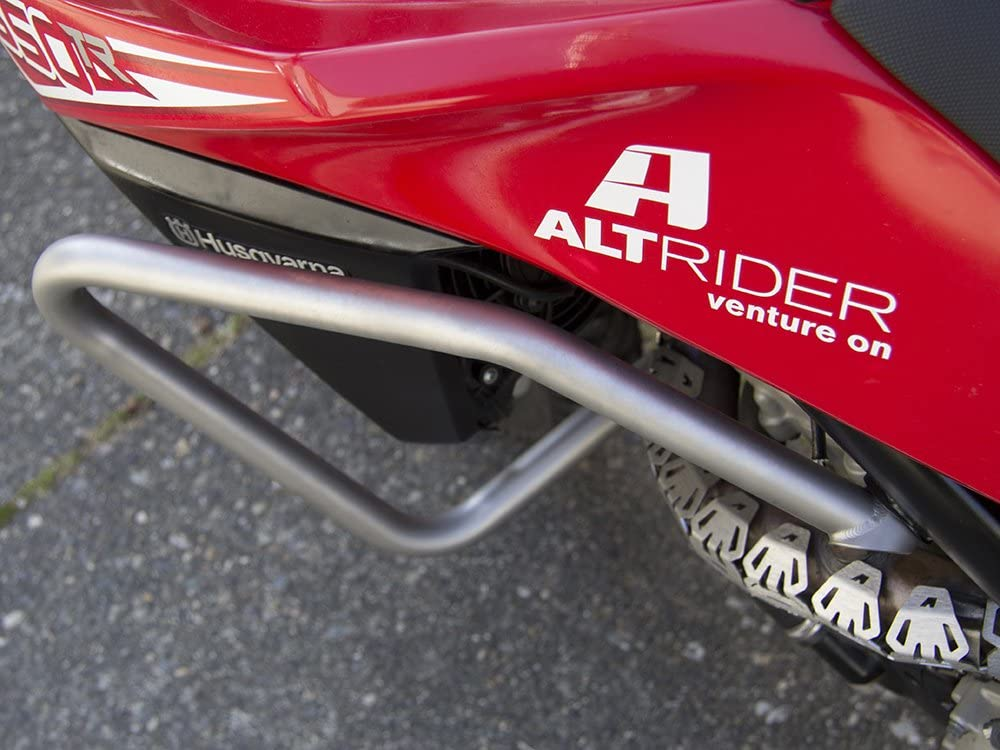 Silver AltRider T613-0-1000 Crash Bars for the Husqvarna TR650 Terra and Strada