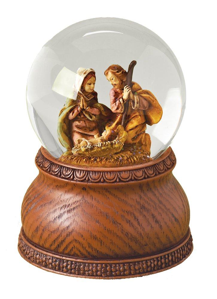 Roman Fontanini Holy Family Nativity Christmas Musical 80mm Glitterdome Snowglobe