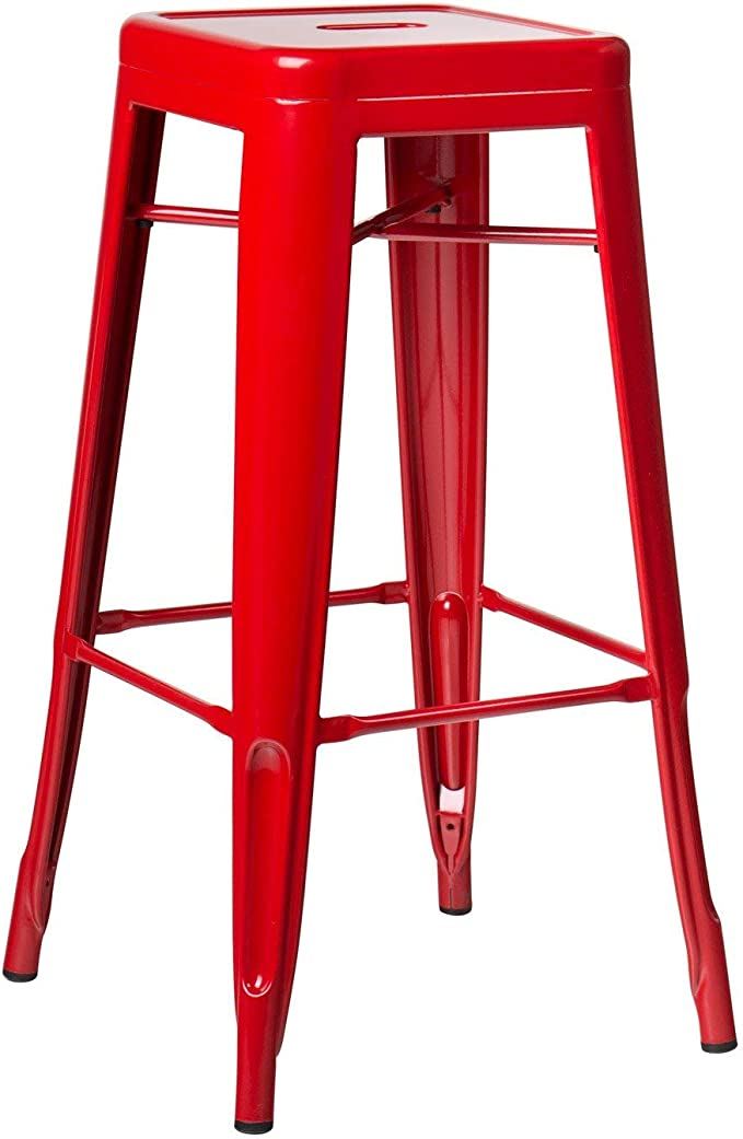 Image ofSKLUM Taburete Alto LIX Acero Rojo - (Elige Color)