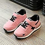 Kids Sneakers Little Girls Boys Sports Shoes Soft Mesh Flat Shoes Lace Up Outdoors Running Shoes Hemlock (1 Years old, Pink)