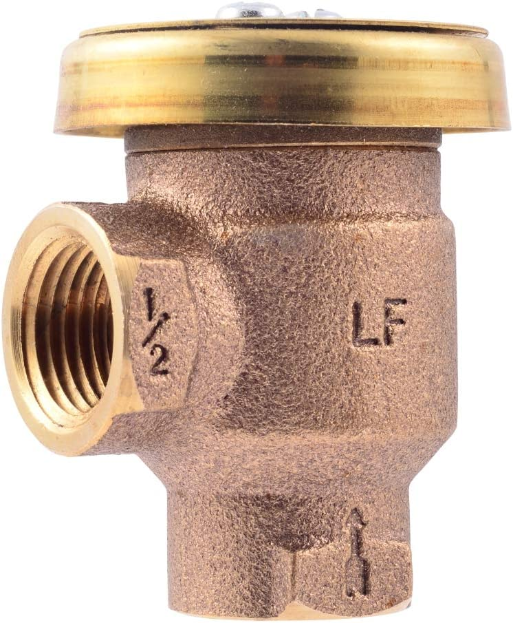 Cash Acme 24501 In-Line Thermostatic Hg110-D 1/2-Inch Mixing Valve with Sweat Connections And Intergral Checks