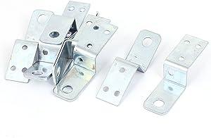 uxcell Furniture Shelf 70x20mm Z Shape Corner Brace Plate Angle Bracket 10pcs