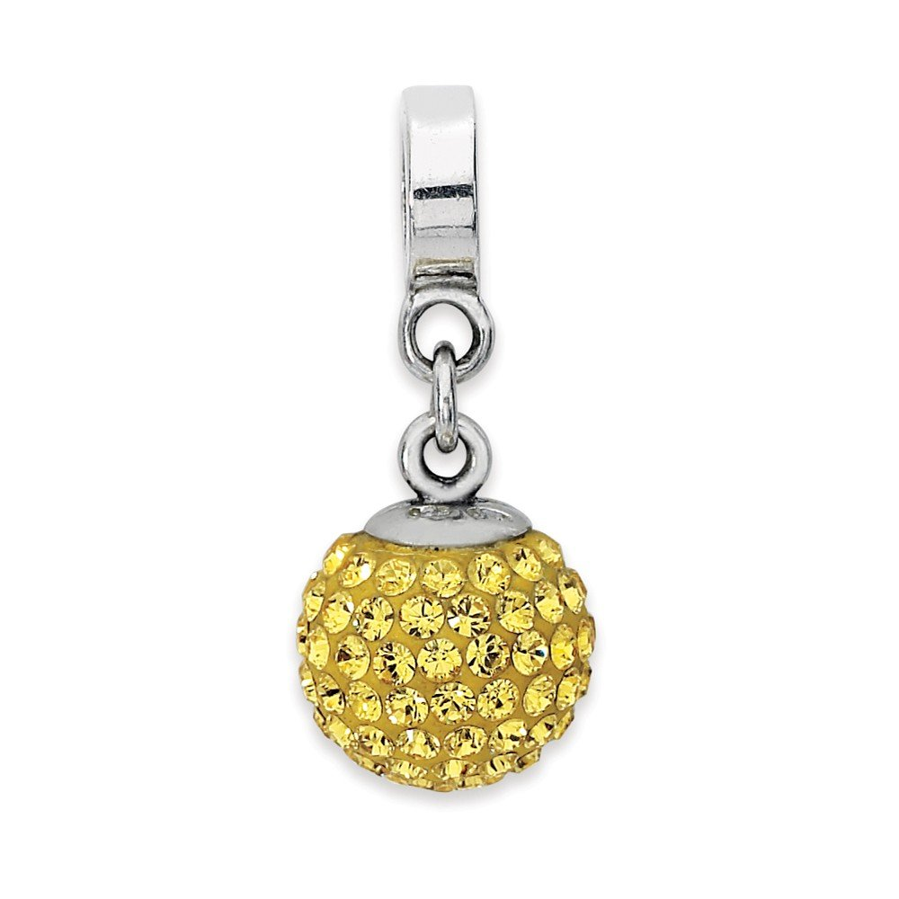 925 Sterling Silver Charm For Bracelet Nov Swarovski Crystal Ball Dangle Bead Stone Birthstone November Fine Jewelry Gifts For Women For Her
