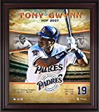 ": Tony Gwynn San Diego Padres Framed 15"" x 17"" Hall of Fame Career Profile - MLB Player Plaques and Collages"
