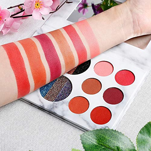 10 Color Marble Eyeshadow Pan Golden Onion Powder Pearl Luster Subgloss Lasting ()