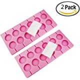 Carlie 2Pcs/Pack 12-Capacity Silicone Lollypop Mold With 40Pcs/Pack Sucker Sticks