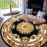 Door mat,Gate pad,Rug,European style,Circular carpet,Computer chairs,Chair mat,[modern],Simple,Bedroom,Tea table blanket-B 100x100cm(39x39inch)