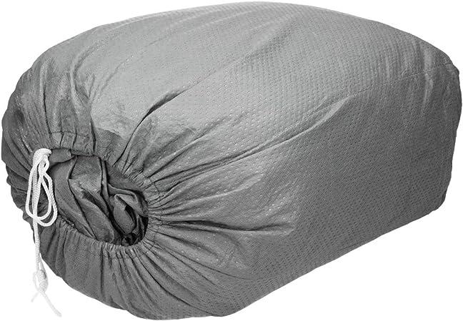 ECD Germany Funda garage S 406 x 165 x 119 cm Lona para coche transpirable con el/ástico Cubierta para protecci/ón de auto