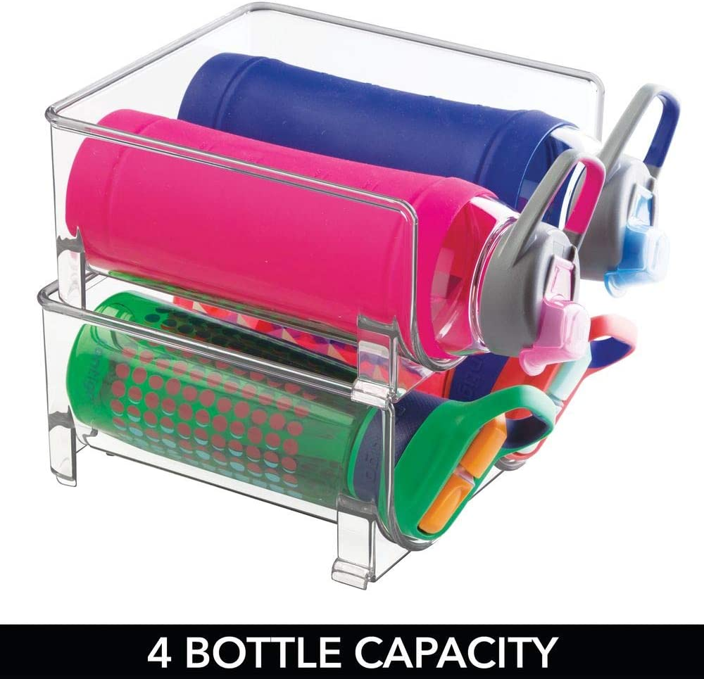 mDesign Juego de 2 estantes para botellas de vino – Conjunto de ...