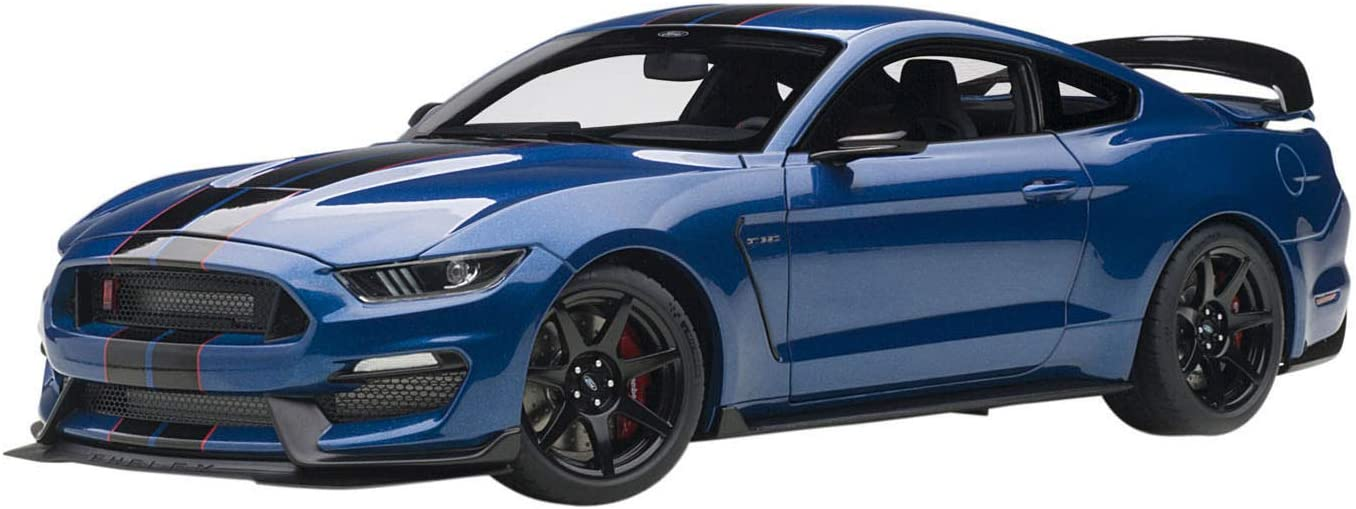 Ford Mustang Shelby GT-350R Lightning Blue with Black Stripes 1//18 Model Car by Autoart 72933