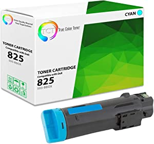 TCT Premium Compatible Toner Cartridge Replacement for Dell 825C 593-BBOX Cyan Works with Dell H625CDW H825CDW S2825CDN Printers (2,500 Pages)