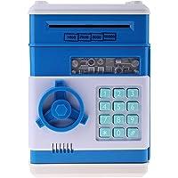 Sharplace taşınabilir Tresor form kasa bozuk para kumbara Gelddose Box ile müzik & flaş, pil ile çalışır (3* AAA pil), plastik, Mavi, # C