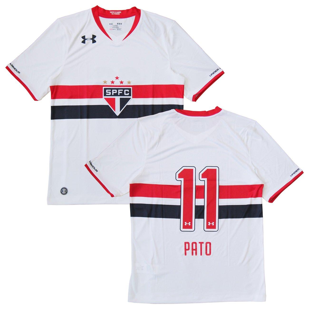 Under Armour(アンダーアーマー) 2015-16 サンパウロFC ホーム半袖 #11 PATO アレシャンドレパト B01A85R0KEインポートM