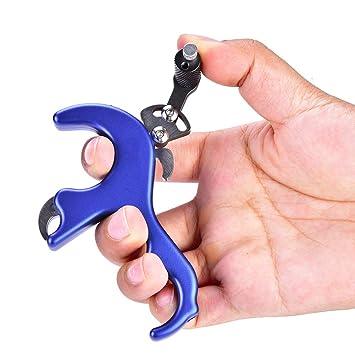Bogenschie/ßen Bogensport Thumb Release Finger Daumen Trigger Archery Release Aids Trigger Bogenschie/ßen Zubeh/ör Bogen Release Aid Bogenschie/ßen Compoundbogen 4 Finger Thumb Release