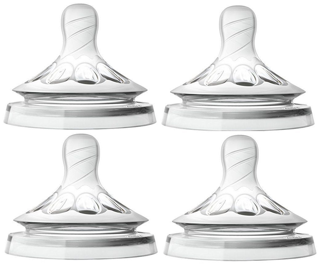 Philips Avent Natural Nipple Newborn Flow - 4 Pack