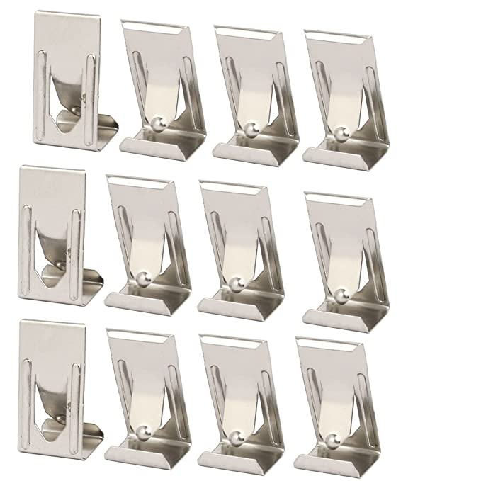 uxcell 26mmx14mm Picture Photo Frame Metal Spring Turn Clip Hanger Siver Tone 12pcs - - Amazon.com