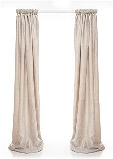 product image for Glenna Jean Contessa Drapery Panels, Grey Velvet