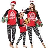 Hawiton Pijamas de Navidad Familia Conjunto de Pijamas de Hombre Mujer Niño Niña Invierno Manga Larga Algodón Ropa de…