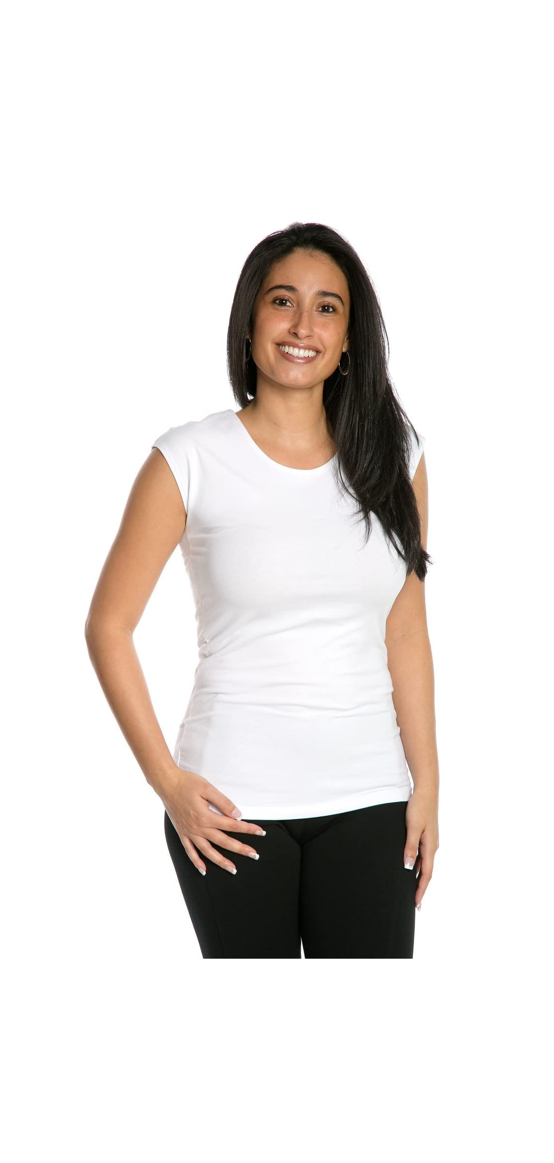 Heirloom Cap Sleeve Tee Usa Made Extra Length Layering Comfy Fit