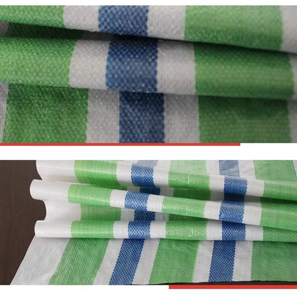 Wasserdichte Plane, verdickte grüne dreifarbige grüne verdickte verdickte Farbe mit regenfestem wasserdichtem und sandfestem Plastikschattiertuch (größe   6  50m) 9b382b