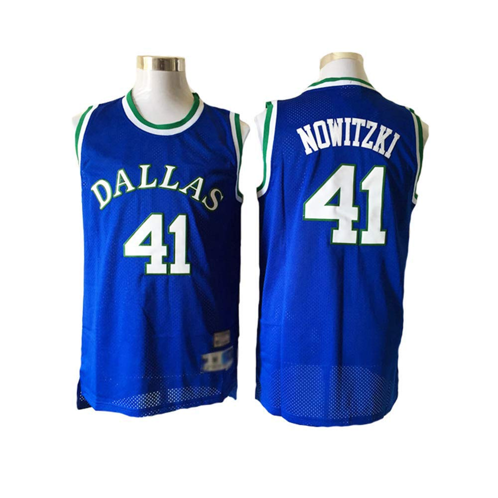 Camiseta De Baloncesto para Hombre, Dallas Mavericks # 41 Nowitzki ...