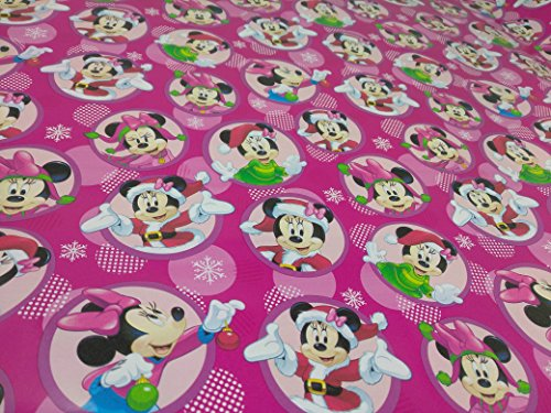 Homemade Minnie Mouse Costumes Women (Christmas Wrapping Holiday Paper Gift Greetings 1 Roll Design Festive Wrap Minnie & Mickey Mouse)