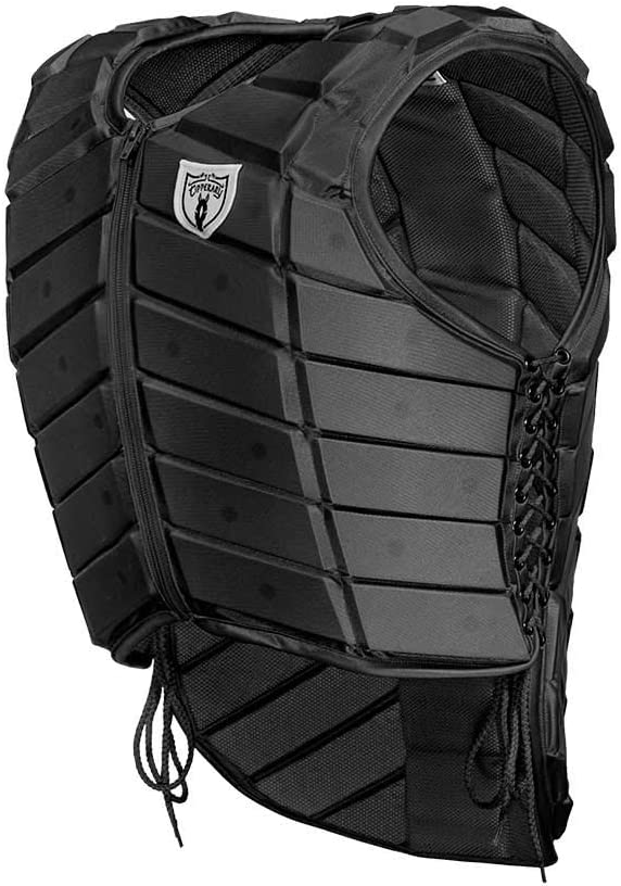 Flexible Customizable Fit Body Protector TIPPERARY EQUESTRIAN Horse Riding Eventing Vest YXL Black English Style Protective Horseback Riding Apparel Eventer
