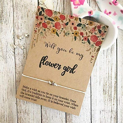 Will You Be My Flower Girl, Wish Bracelet, Flower Girl Gift, Wedding Party Gift, Custom Wedding Favors