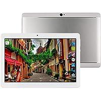 Tableta 10 Pulgadas Android 8.1 Octa Core 4GB RAM 64GB ROM Tablet PC WiFi incorporada Bluetooth y cámara GPS Dos Ranuras para Tarjetas SIM Desbloqueadas Llamada telefónica 3G Phablet (Metal Negro)
