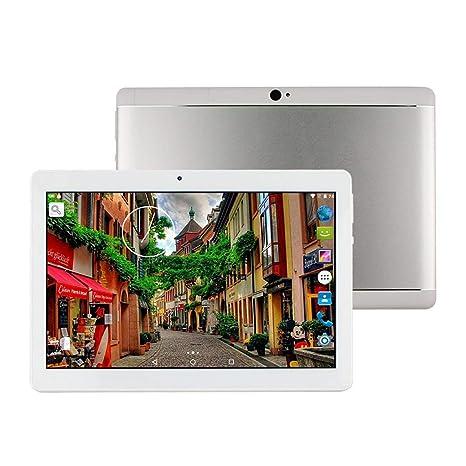 Tablet de 10 Pulgadas Android 8.1 Octa Core 4GB de RAM 64GB ROM Tablet PC WiFi incorporada Bluetooth y cámara GPS Dos Ranuras para Tarjetas SIM ...