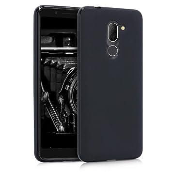 kwmobile Funda para Alcatel 3X - Carcasa para móvil en TPU Silicona - Protector Trasero en Negro Mate