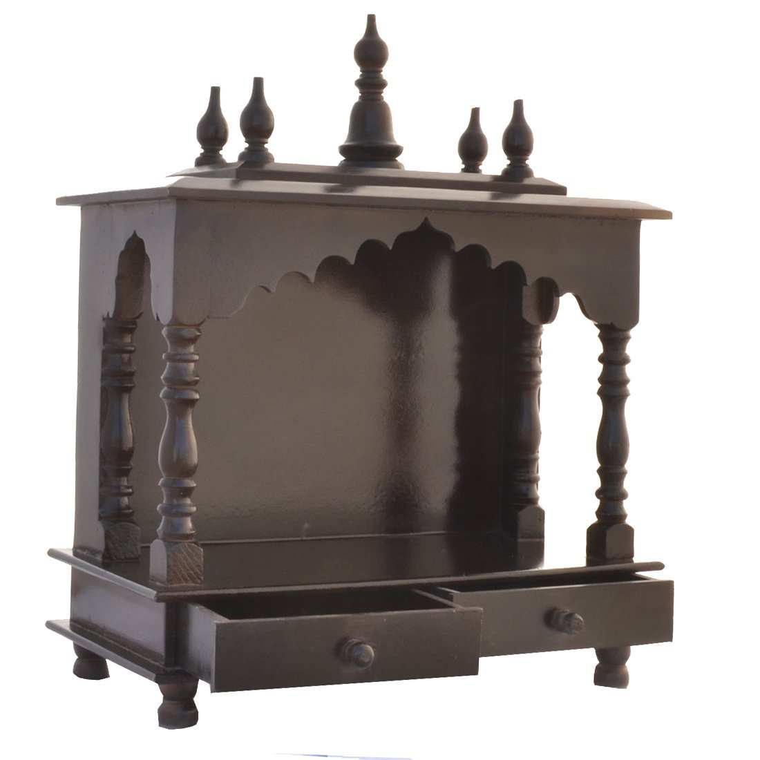 Pooja Stand Designs Images : Amazon mereappne wooden pooja mandir indian hindu