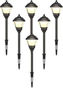 GOODSMANN Landscape Lighting Low Voltage Path Lights LED 1.5 Watt Floodlight with Metal Spike and Connector for Outdoor Lighting Garden, Patio, Yard (6 Pack) 9920-G115-06