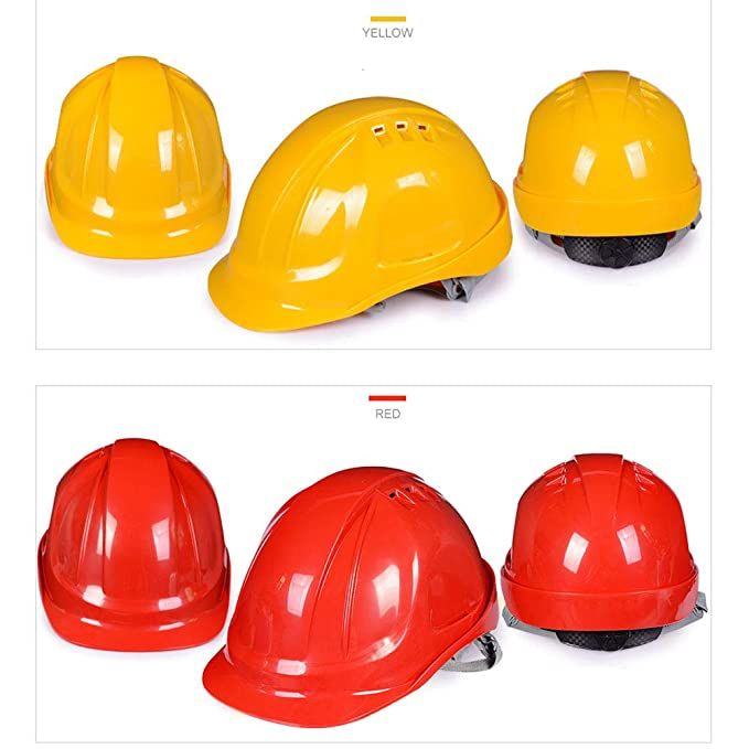 Casco de Seguridad Casco de Seguridad en la construcción - Persona encargada de la Obra de construcción Casquillo Protectora Ventilación ABS Casco de ...