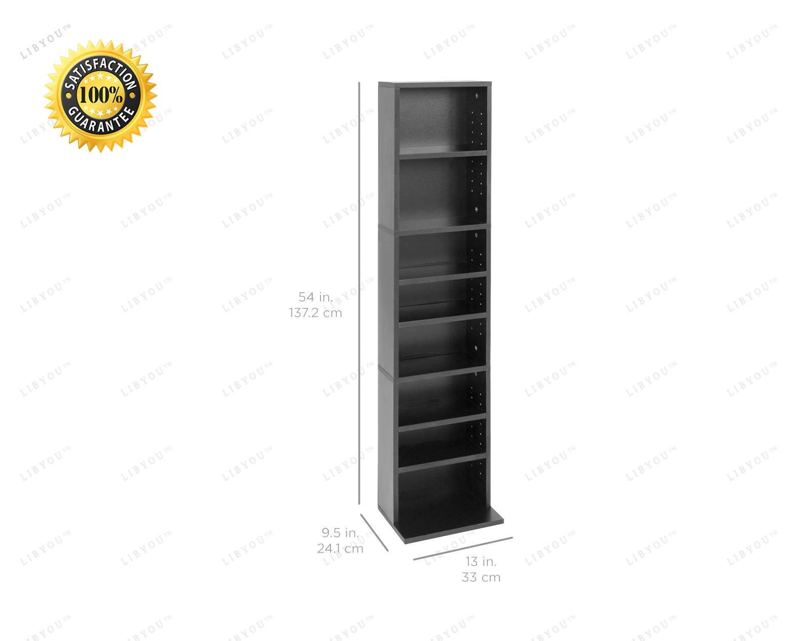 LIBYOU__Media Storage Tower,CD Rack,Bookcase, Shelf Storage Cabinet Tower, Storage Tower Rack, Wooden Media Storage Organizer, Bookshelf Display,Shelves for CDs, Books, Video Games by LIBYOU