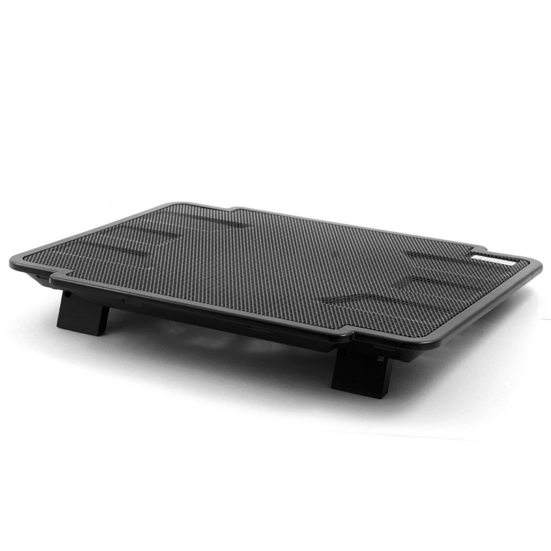 Amazon.com: eDealMax Malla metálica portátil Ultra delgada del radiador de enfriamiento del cojín Negro w Ventiladores Para ordenador DE 14 pulgadas: ...