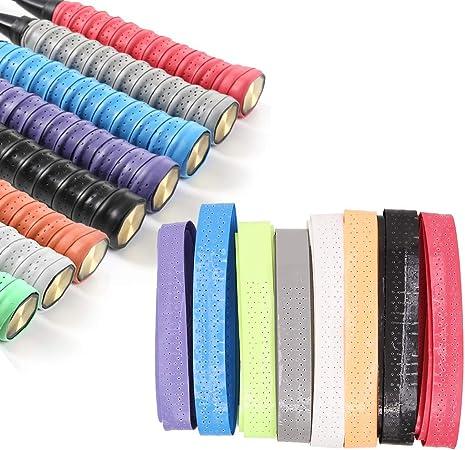 Long Absorb Sweat Tennis Badminton Racquet Handle Breathable Holes Grip Tape UK