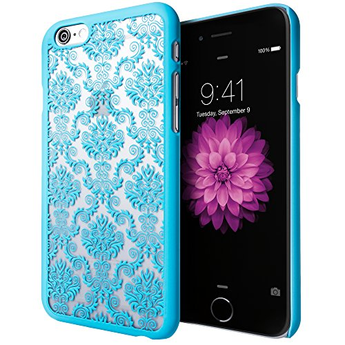 iPhone 6S Plus Case, Cimo [Damask] Apple iPhone 6 Plus Case Design Pattern Premium ULTRA SLIM Hard Cover for Apple iPhone 6S/6 Plus - Blue