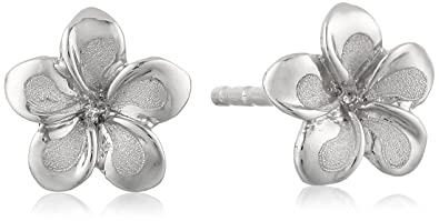 Amazon 14k white gold flower stud earrings jewelry 14k white gold flower stud earrings mightylinksfo