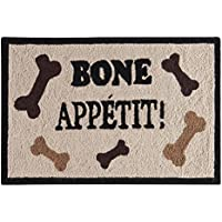 C&F Home Bone Appetit Hooked Rug, 2 x 3, Off-White