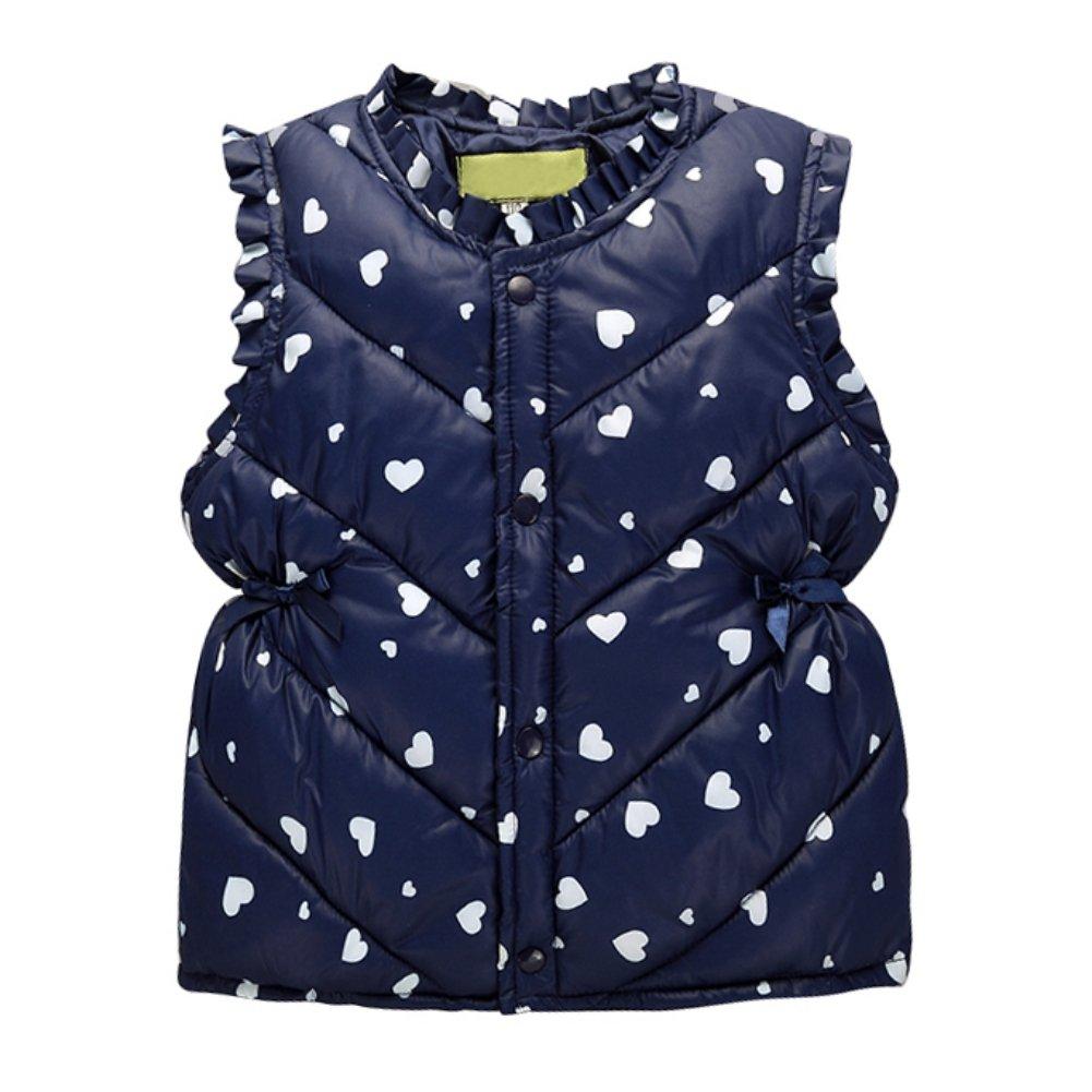 Children Girls Fall warm Vest Fleece Jacket Sleeveless Coat For 1-6 Years by Wongfon