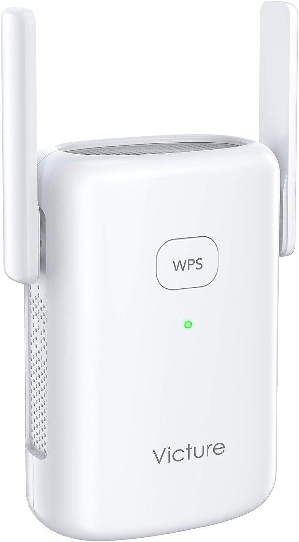 Victure Repetidor WiFi 1200Mbps, 2.4 GHz/ 5Ghz, Amplificador WiFi Extensor, con Puerto Ethernet,Repetidor Inalámbrico con Botón WPS, Fácil de configurar