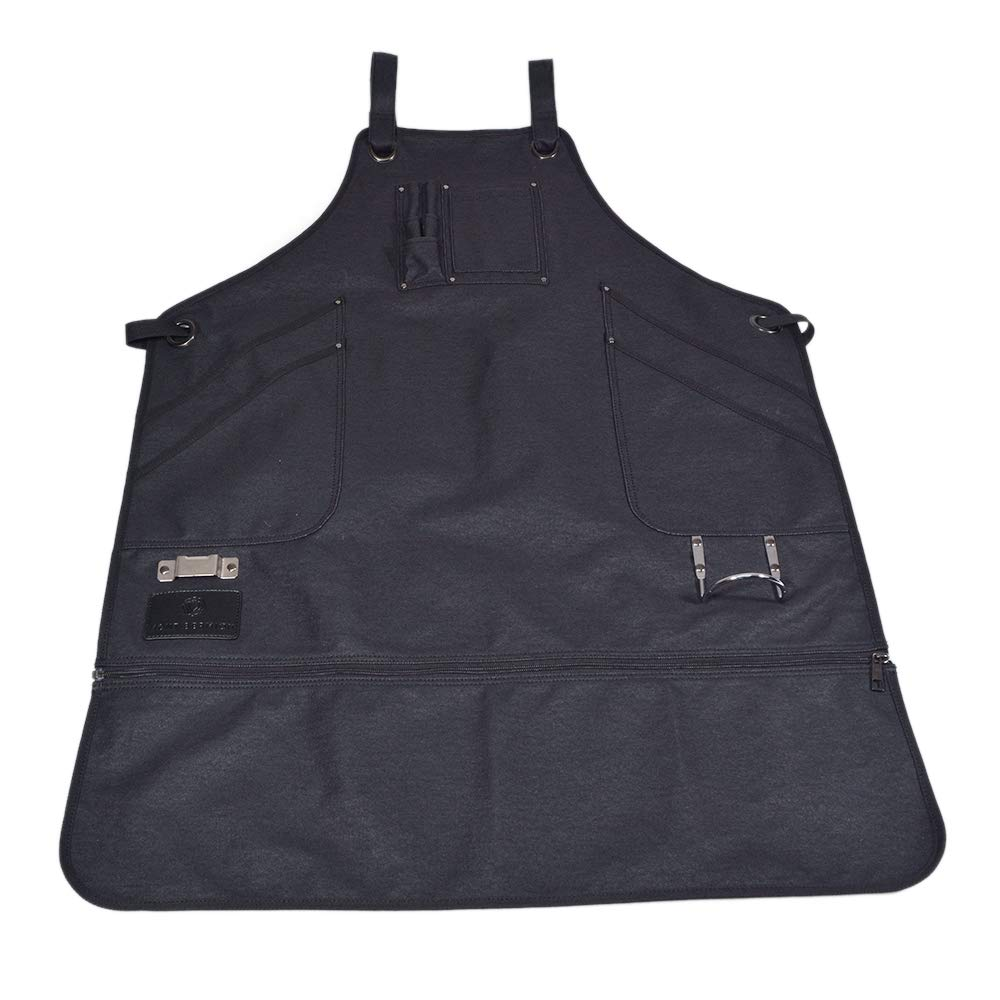 Premium Apron with Unique Side Pockets, for Blacksmith Woodworking Ironworker - Metal Buckle, Metal Tape and Hammer Holders, Guaranteed Fit, Adjustable Back, Breathable, Highest Quality by Mont Bermion
