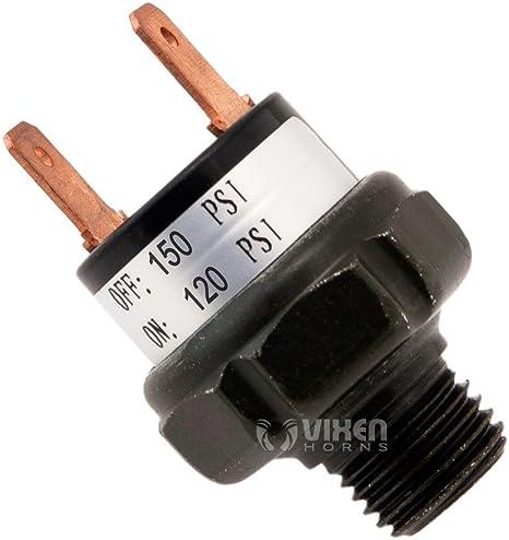 vixen horns vxa7150 120 150 pressure switch  110 145 psi pressure switch for air