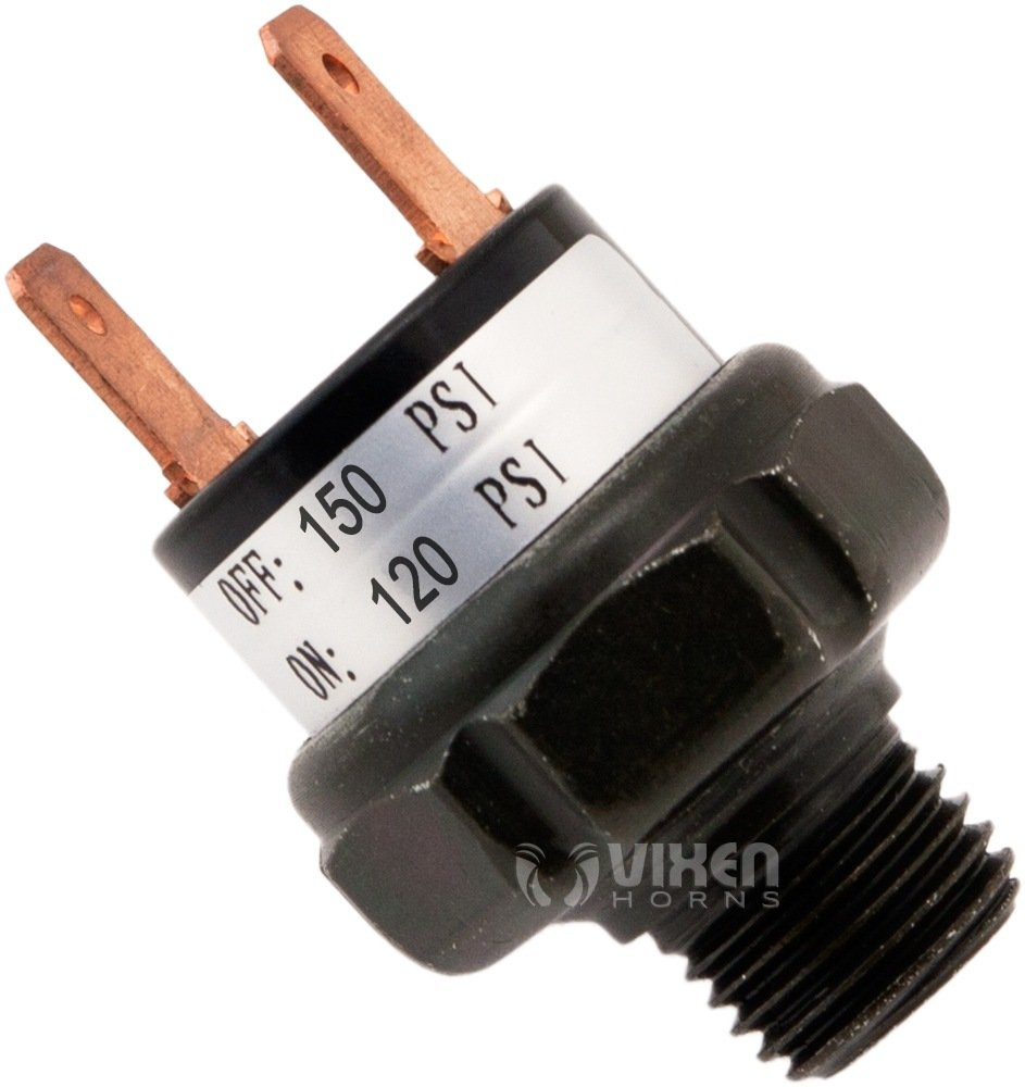 Vixen Horns 120-150 PSI Air Pressure Switch Tank Mount Type 1/4'' NPT 12V/24V for Train/Air Horn - Bundle of six switches VXA7150-6 by Vixen Horns (Image #2)