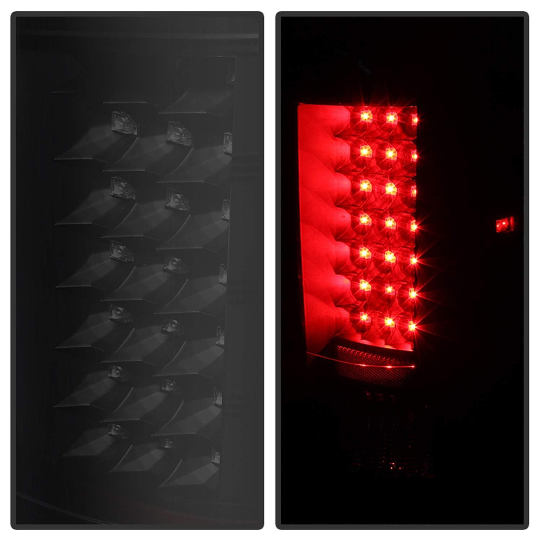 Chevy Silverado Black LED Tail Light Spyder Auto Pair ALT-JH-CS07-LED-BK