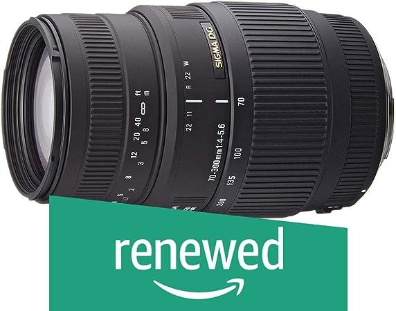 Renewed  Sigma 70 300mm F/4 5.6 DG Macro Telephoto Zoom Lens for Canon DSLR Camera Cameras   Photography