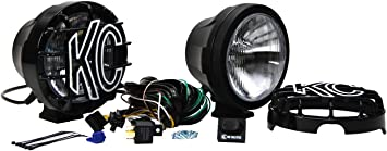 """6/"""" Super Off Road Stainless 130w Halogen Lights w// Wiring /& Switch Kit PAIR Red"""