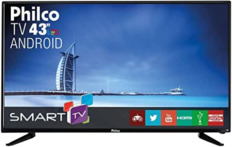 Smart Tv Led Philco Ph43n91 Dsgwa, Hdmi, Usb, Wi-fi