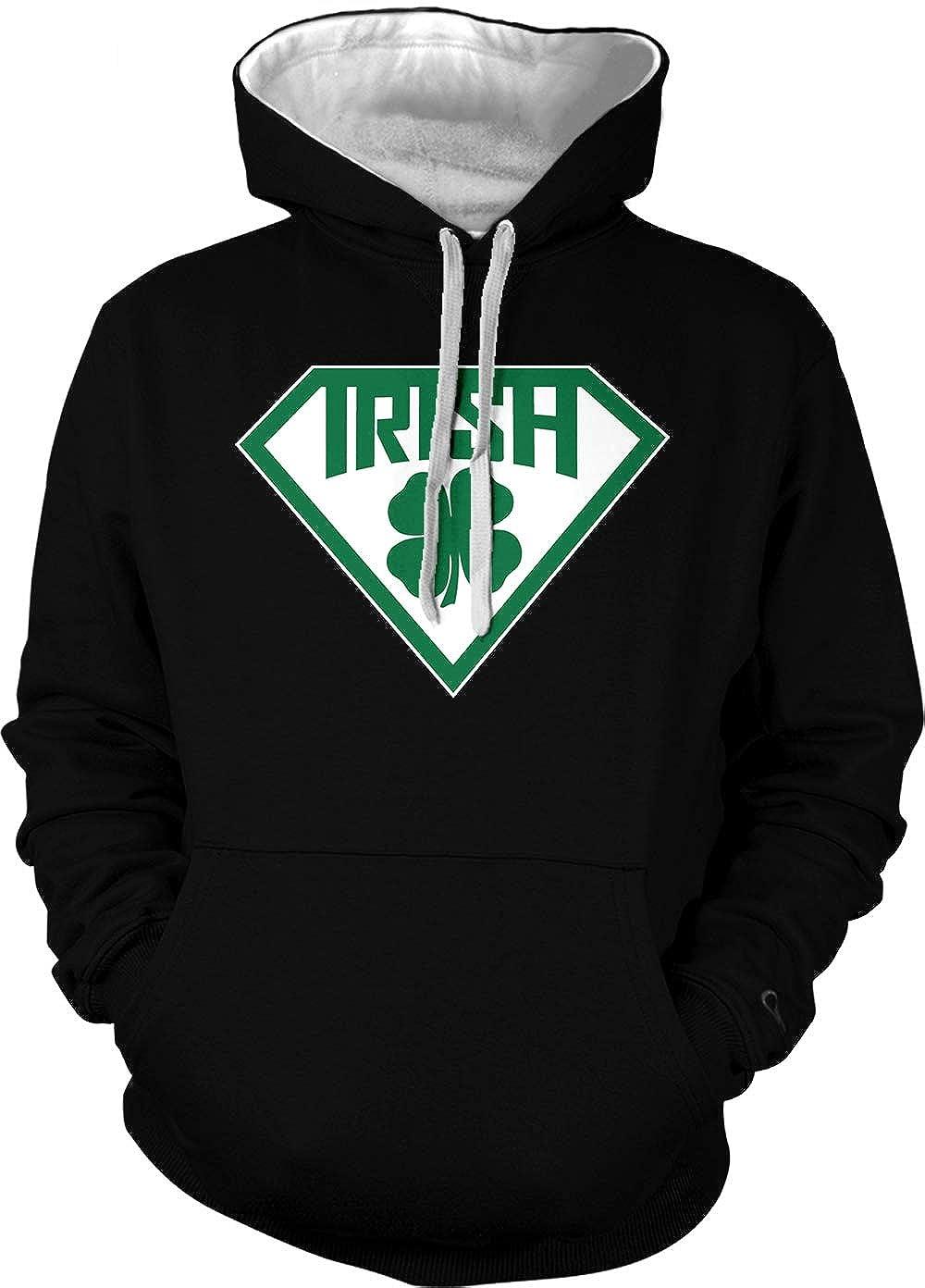 Super Irish Logo Adult Two Tone Hoodie Sweatshirt